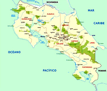 nationalparks costa rica karte Navi mieten Costa Rica, Landesinfo 2   Aktuelle Karte